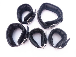 Wholesale Dog Collar Bdsm - BDSM Bondage Gear Dog Collar Handcuffs for Sex Wrist Ankle Cuffs Restraints with Lock Adult Sex Toys for Women HM-KIT3001
