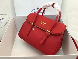 Wholesale Backpack England Brand - New style high quality lychee pattern really leather backpack lady designer fashion zipper handbags luxury brand shoulder bag