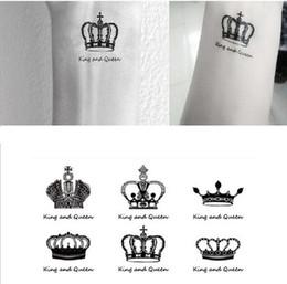2019 оптовый ковер наклейки Бесплатная доставка секс Вы король королева клоуны запястье палец татуировки наклейки для временной татуировки #r120 скидка оптовый ковер наклейки