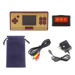 Wholesale Color Box Game - Mini TV Video Retro Handheld RS-20 CoolBaby Pocket FC Game Console Built-in 600 Games With 2.6 Inch Color Screen Retail Box