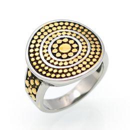 Wholesale Antique Anniversary Bands - Hot fashion antique female ring cap titanium dot retro color ring jewelry