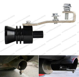 Wholesale Auto Exhaust Muffler - XL Universal Black Car Auto Turbo Sound Exhaust Muffler Pipe Whistle Fake Blow-off BOV Simulator Whistler for Vehicles MYY