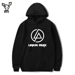 Wholesale Hoodies Wholesale Usa - Wholesale- BTS LinKin Park Sweatshirt Pullover Men women Casual Rock Band Hip Hop Hoodies Sweatshirt Winter Fashion USA Singer Clothes