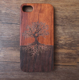 Wholesale Wood Pattern For Carving - Fashion Showy Pattern Retro Wood Carved Phone Cover Protective Bamboo Mobile Phone Wooden Case For Iphone 5 7 plus 6 6s 6