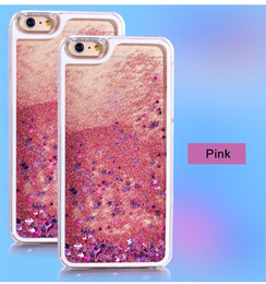 Wholesale Moving Case Iphone - Moving Stars Liquid Case For iPhone X 8 7 6 6S Plus 5 5S SE Glitter Quicksand Bling Phone Cases For Samsung S8 Plus S7 Edge Cover
