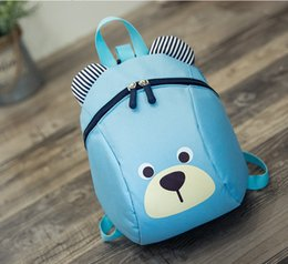 Wholesale Small Kids Canvas Bags - Hot Korean Style Children Bags High Quality Kids Canvas Backpacks Lovely Bear Cartoon Bag Designer School Bag