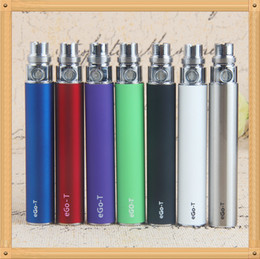 Wholesale Ego T Battery Pcs - 10 Pcs eGo-T EVOD ecig non-adjustable voltage battery 650 900 1100mAh electronic cigarette battery suit for all series ego kit ce4 ce5 mt3