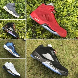 Wholesale Mens Leather Hiking Boots 12 - 2017 Cheap Retro 5 V OG Black Metallic Basketball Shoes For Men,High Quality Oreo Retros 5s Mens Athletics Sport Trainers Sneakers 7-12