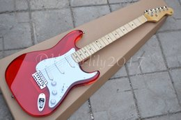 Wholesale Crystal Electric Guitar - 2017 red crystal Electric guitar, Fingerboard & Acrylic Body , Custom guitar, chrome hardware,High Quality