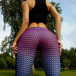 Wholesale Wholesalers Jog Pants - Wholesale- Women Buttocks Yoga Pants Compression Tights Sport Leggings Fitness Elastic Quick Dry Running Bodybuilding Female Jogging