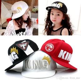 Wholesale Korean Ball Big Girl - 2017 Children Big Crown Flat Brimmed Baseball Cap Korean Hip-hop Sport Hat Summer Kids Visor Sun Hats Boys Girl Casual Cap