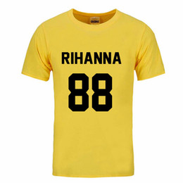 Camicie rihanna online-Fashion Summer Rihanna Shirt Maglietta Maglietta TShirt Maglietta Unisex More Size and Colors DIY-0078D