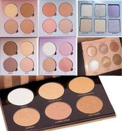 Wholesale Makeup Palette Mix - Top Quality! New Hot Bronzers &Highlight Kit Makeup Face Powder Blusher Palette DHL Free shipping+gift