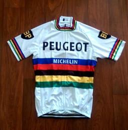 Panno del mondo online-2019 Peugeot World Champion maglia maglie ciclismo traspirante manica corta estate asciugatura rapida panno MTB Ropa ciclismo B2