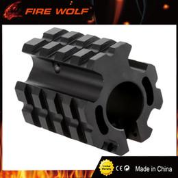 montage sur rail quadruple Promotion FIRE WOLF PRO modèle 4/15 à profil bas pour bloc de gaz à quatre rails pour baril de .75