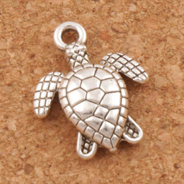 Wholesale Sea Bracelets - Sea Turtles Tortoise Charms Pendants 200Pcs lot 12x15mm Ancient Silver Jewelry Findings Components Jewelry DIY Fit Necklace Bracelets L1176
