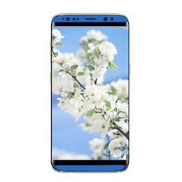 Wholesale Cheap Touch Screen Cellphones - Goophone S8 cheap Android phone MTK6580 quad core 5.5 inch 1G ram 4G rom show 64GB fake 4G lte unlocked cellphone