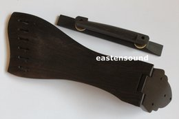 Wholesale Guitar Tailpiece Bridge - Solid ebony tailpiece with bridge for 6 string guitar
