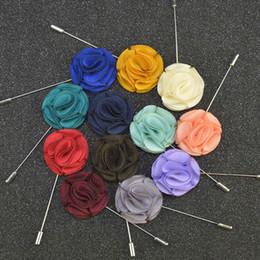 Wholesale New Arrivals Women Suits - Lapel Flower Brooch New Arrival Handmade Boutonniere Stick Brooch Pin for Men Women Suit Men Lapel Pin Brooches