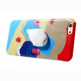 Canada Funny 3d Soft Rub Squishy Case Pour iPhone 6 6s 7 7 plus 6 s plus Chat Dormir Kitty Peau Givré Couverture arrière en TPU Offre