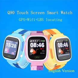 Wholesale Gps W Wifi - Wholesale- Q90 Smart Touch Screen Kid GPS Watch SOS Call Wristwatch Wifi Locator GPS Tracker Watch HQ w  Original Retail Box
