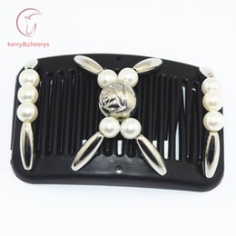 Wholesale Hairpiece Combs - 20 pcs lot hair grips hair accessory Easy to Use forYoung & Old thin hair magic comb hairpiece best comb overs hairstyle