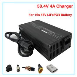 Wholesale 48v Lifepo4 - 240W 48V 4A LiFePO4 Battery Charger 16S 58.4V 4A Charger Used for 48V 10Ah 20Ah 30Ah 40Ah 50AH LFP LiFePO battery pack