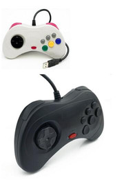 Wholesale Playstation Systems - New PC Retro Handheld USB Gamepad Classic Controller For Saturn System Style High Quality Wired Game Controller Joypad For MAC