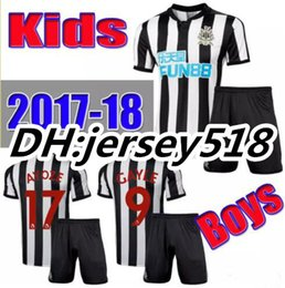 Wholesale Best Youth Jerseys - best quality Newcastle jersey 17 18 Newcastle United kids soccer jerseys 2017 2018 home GAYLE MITROVIC RITCHIE child youth football shirt