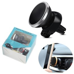 Wholesale Car Holder Air Conditioning - Car Air Outlet Magnet Mobile Phone Holder 360 Degree Rotate Navigation Air Conditioning Mouth Magnetic Phone Support
