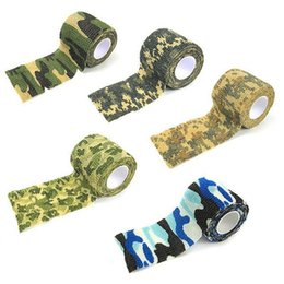 Wholesale Army Tools - 5 Colors 5cmx4.5m Outdoor Shooting Hunting Camera Tools Waterproof Wrap Durable Cloth Army Camouflage Tape Hunting Accessories