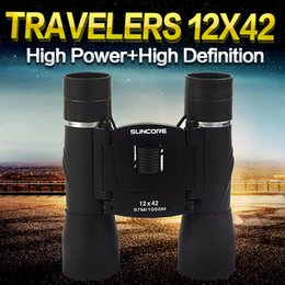 Wholesale Binocular Case - SUNCORE BL 12x42 Binocular Telescopes Night Vision High Definition Non-Infrared-waterproof Fogproof Case,Strap