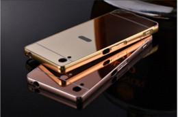 Luxo de alumínio espelho de metal case para sony xperia z5 z5 z3 z2 z1 m4 aqua tampa traseira nova marca ultra fino móvel de