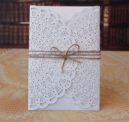 Wholesale Wedding Owns - Wholesale- DIY Your Own Wedding Invitation, Wholesale Invitation Accessories; Laser Cut Invitation Covers - Set of 50