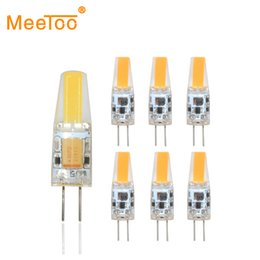 Wholesale 12v Mini Led Bulbs - Wholesale- Mini LED G4 COB Light Bulb 6W 3W AC DC 12V Dimmable Lamp Replace for Crystal Halogen Chandelier Lights at Home