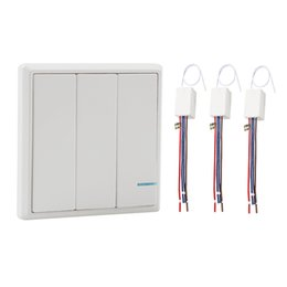 Wholesale Ft Kit - Wireless Light Switch with Receiver Kit Outdoor 1900 ft Indoors 229 ft - Remote Ceiling Lamp LED Bulb - IP54 Dampproof