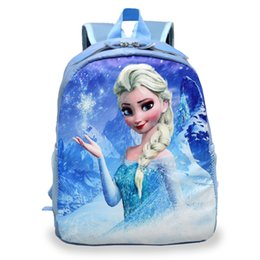 Wholesale School Bags Girls Princess - Cartoon Princess Elsa School Bags for Girls Children Mini Schoolbag Kids Bookbags Kindergarten