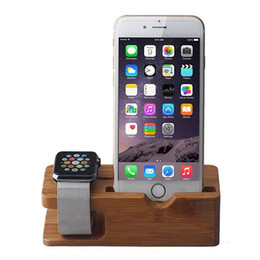 Wholesale Mix Watches - Bamboo Wooden Charger Holder for A Watch 38 & 42mm smart phone DHL Free shipping environmental materials