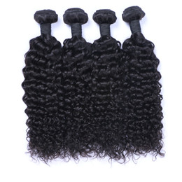 Wholesale Brazilian Afro Jerry - Afro Curly Brazilian Human Hair Weave Bundles Jerry Curl 100 Human Hair Extensions Double Drown Weft For Black Women