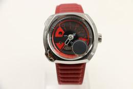 Wholesale Mens Big Case Watches - 50MM Fashion big dial square watchcase industrial essence quartz movement mens watch watches wristwatch wristwatches white case red strap