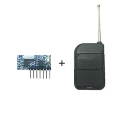 module output Promo Codes - Wholesale- 433 Mhz Remote Control and 433Mhz Wireless Receiver Rolling code Decoding RF Module 4Ch output With Learning Button