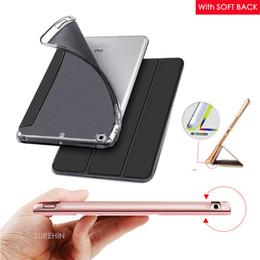 Wholesale Soft Leather Ipad Cover - 1PC soft tpu silicone smart leather case for apple iPad mini air 1 2 3 4 pro 9.7 cover case 2017 new