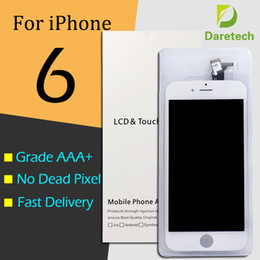 Wholesale Iphone Glass Screen Dhl - Wholesale-Black Glass Touch Screen Digitizer & LCD Assembly Replacement for iPhone 6 with accessories & DHL free shipping