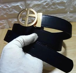 Wholesale Golden Strap - 2017 Famous Brand Genuine Leather Men Belt Designer Luxury High Quality Smooth Buckle Mens Belts For Women Jeans Cow Strap Waistband