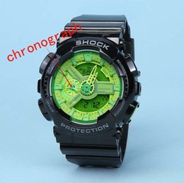 Wholesale Choose Work - Men G Sports Shocking Watches All Function Work Waterproof Led Wristwatch S Shock GA110 Watch More colors choose