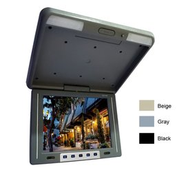 """Wholesale Flip Monitor Mounts - FEELDO 12.1"""" Flip Down TFT LCD Monitor Car Bus Monitor Roof Mounted Monitor 2-Way Video Input 3-Color #1944"""