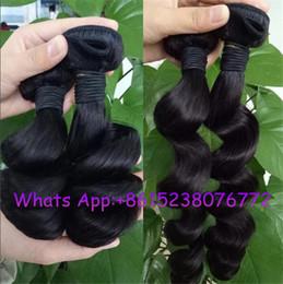 Wholesale Natural Wave Peruvian Virgin Hair - Free shipping Peruvian human Virgin Hair Loose Wave 3 Bundles natural Curly Weave Human Hair big Loose Curly Virgin Hair extension hairpeice