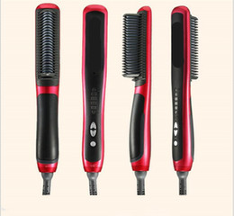 Wholesale Electric Hot Comb Hair - 2017 hot selling Wet and dry KD-388 Professional Straightening Irons Come With Is Play Electric Straight Hair Comb Straightener Iron Brush