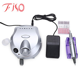 Wholesale Low Electric - Wholesale- Professional Nail Art Equipment Low Noise and Vibration Electric Nail Art Polisher File Drill Manicure Pedicure Machine