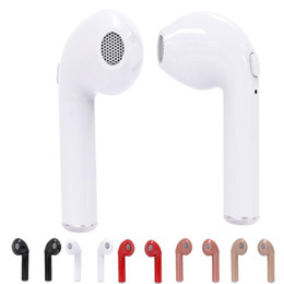 Wholesale Mini Car Bluetooth - Wireless Bluetooth Earbuds HBQ I7 Twins Mini Bluetooth V4.2 Car Stereo Headsets In-Ear Headphones Music Earphones With Mic Noise Canceling